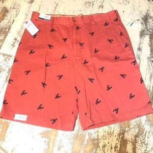 Izod Men's Saltwater Shorts in Coral Lobster Print
